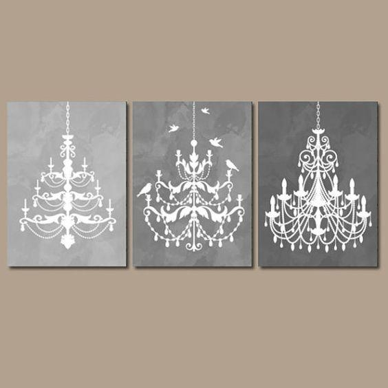 Wall Art: Glamorous Chandelier Wall Art Chandelier Wall Decal Throughout Glamorous Wall Art (Image 13 of 20)