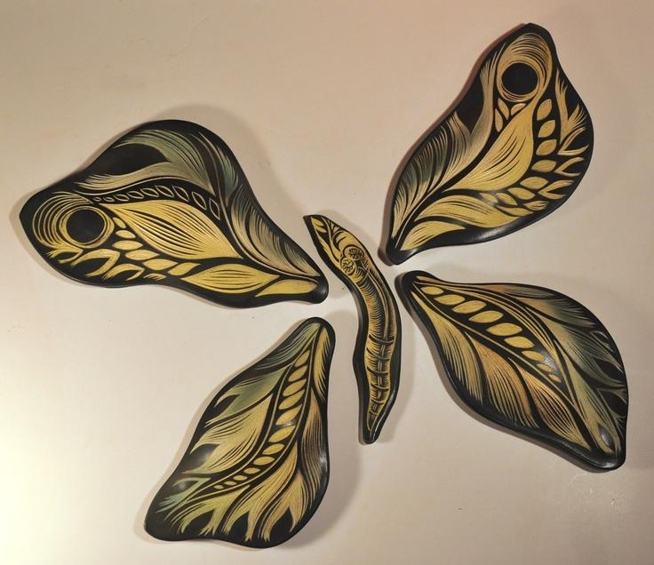 Featured Image of Ceramic Butterfly Wall Art