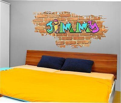 Wall Art Ideas Design : Jimmy Brick Name Personalized Graffiti Within Personalized Graffiti Wall Art (Image 20 of 20)