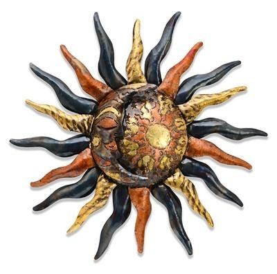 Wall Art Ideas Design : Sun Moon Mexican Metal Wall Art Flower With Mexican Metal Art (View 14 of 20)