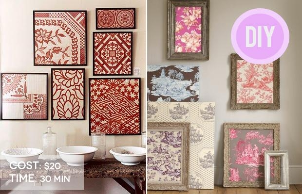 Wall Art Ideas With Framed Fabric Wall Art (Image 20 of 20)