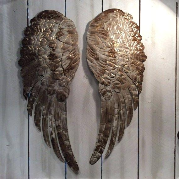Wall Art ~ Large Angel Wings Wall Decor Uk Angel Wings Wall Art For Angel Wings Sculpture Plaque Wall Art (View 17 of 20)