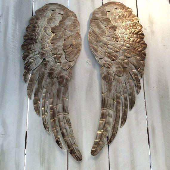 Wall Art ~ Large Angel Wings Wall Decor Uk Angel Wings Wall Art Inside Angel Wings Sculpture Plaque Wall Art (Image 12 of 20)