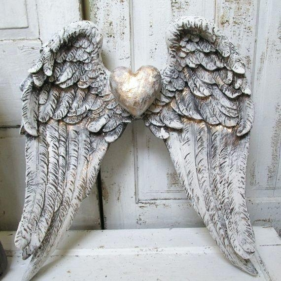 Wall Art ~ Large Angel Wings Wall Decor Uk Angel Wings Wall Art Intended For Angel Wings Sculpture Plaque Wall Art (View 18 of 20)