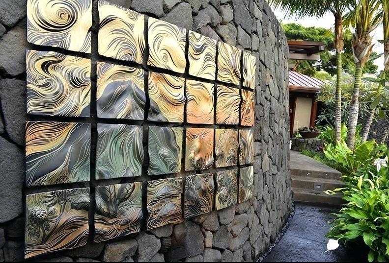 Wall Art ~ Large Ceramic Sun Wall Art Ceramic Sun Outdoor Wall Art Inside Large Ceramic Wall Art (Image 19 of 20)