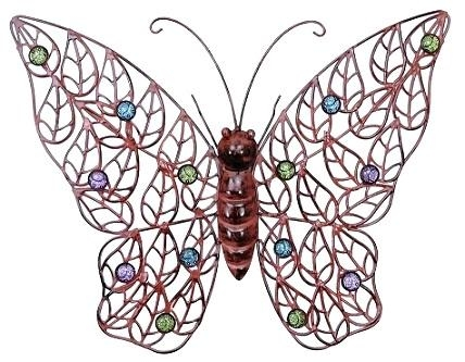 Wall Art ~ Large Metal Butterfly Wall Art Gold Metal Butterfly In Large Metal Butterfly Wall Art (View 8 of 20)