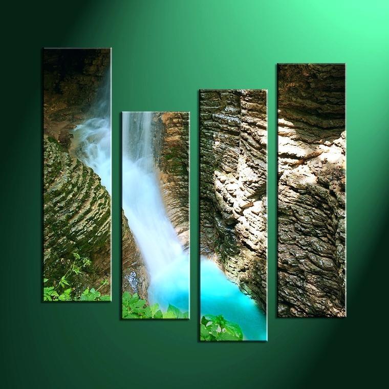 Wall Art ~ Lighted Waterfall Wall Art Artificial Waterfall Wall Regarding Waterfall Wall Art (Image 17 of 20)