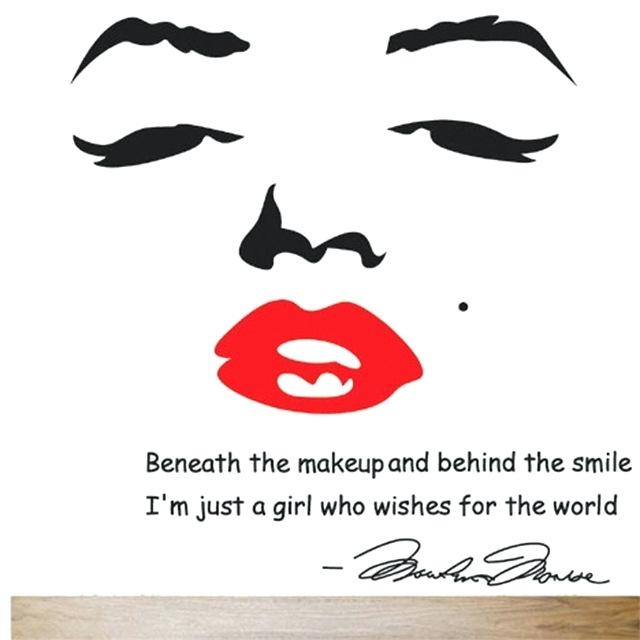 Wall Art ~ Marilyn Monroe Wall Decal Removable Art Home Decor For Marilyn Monroe Wall Art (Image 18 of 20)