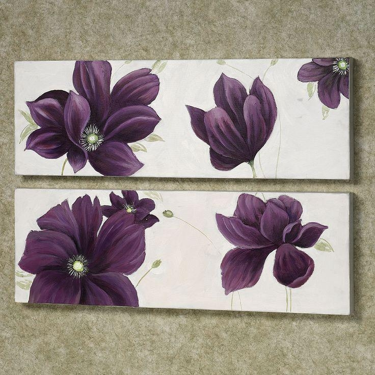 Wall Art: Marvellous Purple And Grey Wall Art Gray And Purple For Purple Flower Metal Wall Art (Image 20 of 20)