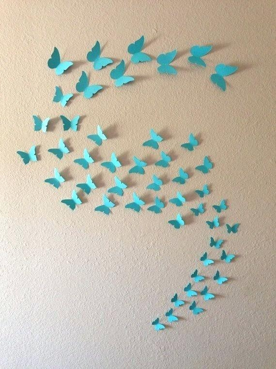 Wall Art ~ Metal Wall Art Butterflies And Dragonflies Wall Art For Butterflies 3D Wall Art (Image 20 of 20)