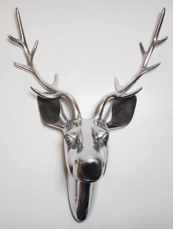 Wall Art – Metal Wall Art Picture – Large Deer Stag Head | Ebay In Stags Head Wall Art (Image 20 of 20)