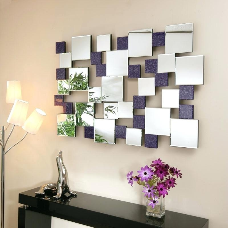 Wall Art ~ Modern Art Deco Wall Mirror Mirrormirrors Abstract With Regard To Contemporary Mirror Wall Art (Image 13 of 20)