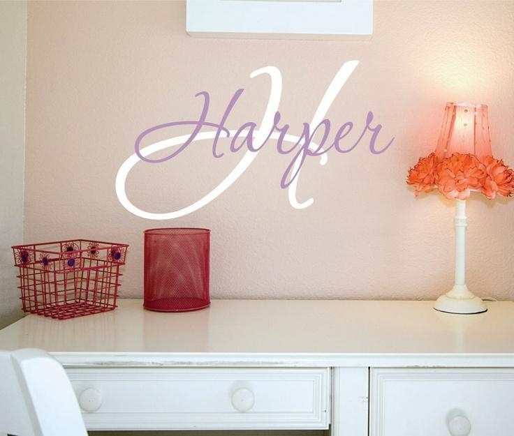 Wall Art Names Design Inspiration Name Wall Art – Home Decor Ideas Inside Personalized Wall Art With Names (View 14 of 20)