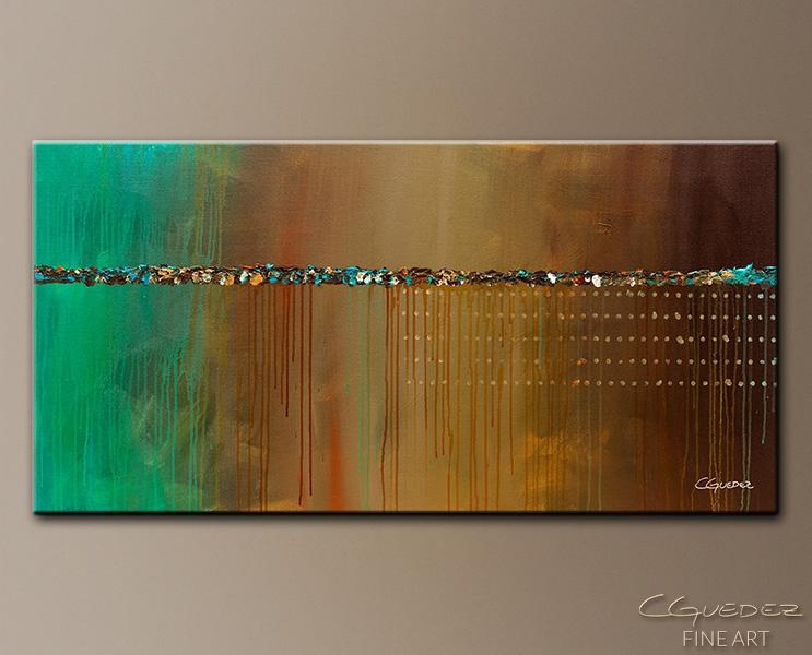 Wall Art Painting The Voyage – Abstract Painting For Sale Online With Regard To Turquoise And Brown Wall Art (View 4 of 20)