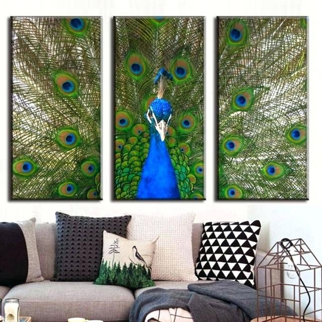 Wall Art ~ Peacock Print Wall Art Peacock Art Print Decor Bird Inside Jeweled Peacock Wall Art (Image 20 of 20)