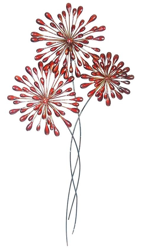 Wall Art ~ Red Metal Wall Art For Sale Red Tree Metal Wall Art Red Within Red Flower Metal Wall Art (Image 20 of 20)