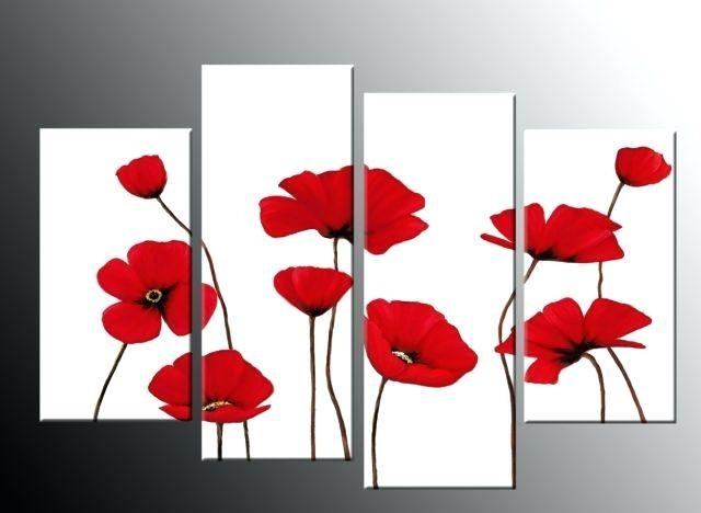 Wall Art ~ Red Poppy Canvas Wall Art Red Poppy Wall Art Painting For Red Poppy Canvas Wall Art (Image 15 of 20)