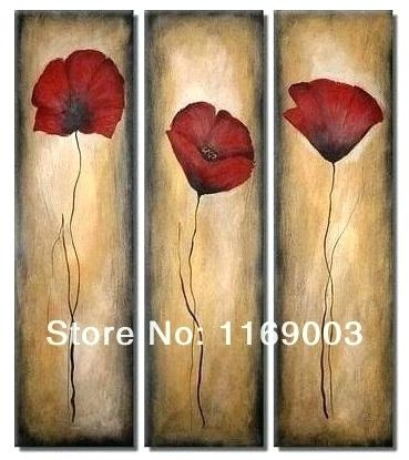 Wall Art ~ Red Poppy Canvas Wall Art Red Poppy Wall Art Painting In Red Poppy Canvas Wall Art (Image 16 of 20)