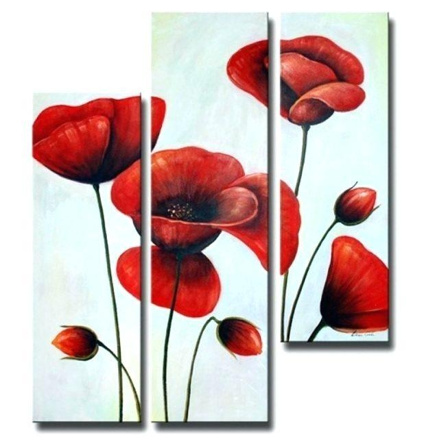 Featured Image of Metal Poppy Wall Art
