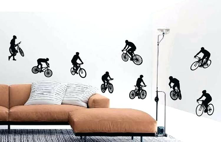 Wall Art ~ Road Cycling Wall Art Wall Clock Industrial Decor In Cycling Wall Art (Image 19 of 20)