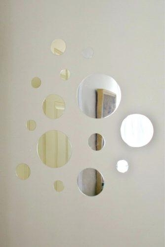 Wall Art ~ Round Mirror Wall Art Art Deco Round Wall Mirror Circle With Mirror Circles Wall Art (Image 17 of 20)