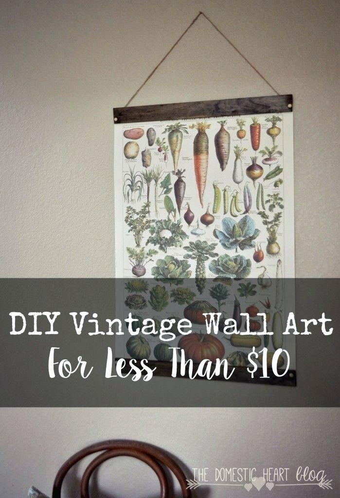 Wall Art ~ Vintage Metal Art Wall Decor Vintage Home Decorative In Large Vintage Wall Art (View 13 of 20)