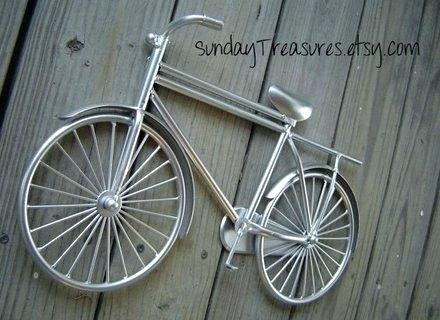 Wall Art ~ Vintage Motorbike Wall Art Bike Wall Art Stickers Metal With Regard To Metal Bicycle Wall Art (View 16 of 20)