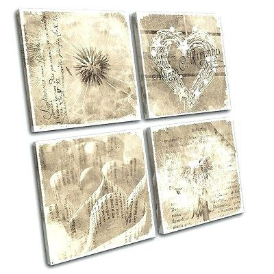 Wall Art ~ Vintage Wall Art Canvases Retro Kitchen Canvas Wall Art Pertaining To Shabby Chic Canvas Wall Art (View 3 of 20)