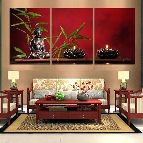 Wall Art ~ Wall Art Quotes On Wood 3D Large Buddha Wall Murals With Regard  To