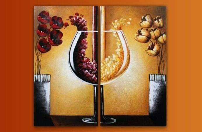 Wall Art ~ Wine Themed Canvas Art Wine Bottle Canvas Art Canvas Regarding Wine Theme Wall Art (Image 12 of 20)