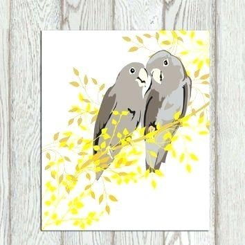 Wall Art ~ Yellow Wall Art Decor Yellow And Gray Wall Art Decor Inside Gray And Yellow Wall Art (Image 14 of 20)