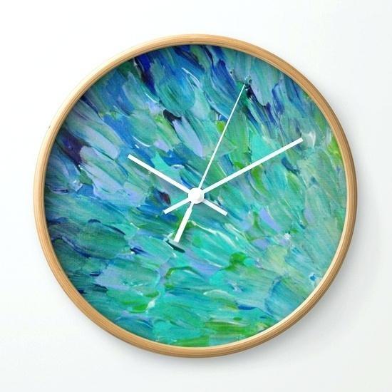 Wall Clock ~ Abstract Wall Clock India Octopus Abstract Wall Clock With Abstract Wall Art With Clock (Image 15 of 20)