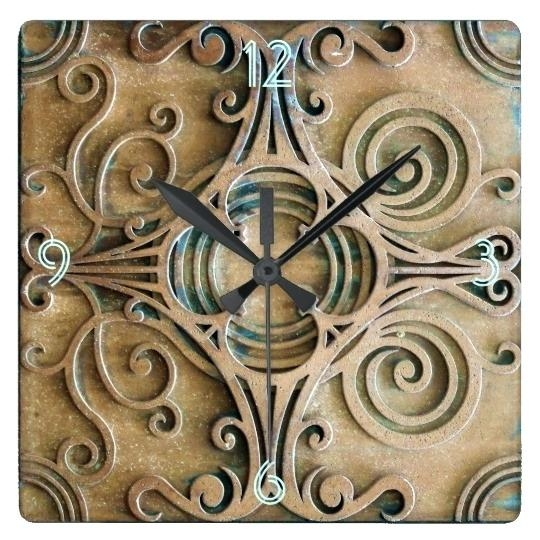 Wall Clock ~ Art Deco French Wood Wall Clock 30 Hour Movement Art For Large Art Deco Wall Clocks (Image 12 of 20)