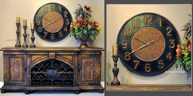 Wall Clock ~ Ceramiche Darte Parrini Italian Ceramic Wall Clock In Italian Ceramic Wall Clock Decors (Image 20 of 22)