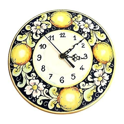 Wall Clock ~ Ceramiche Darte Parrini Italian Ceramic Wall Clock Pertaining To Italian Ceramic Wall Art (Image 20 of 20)