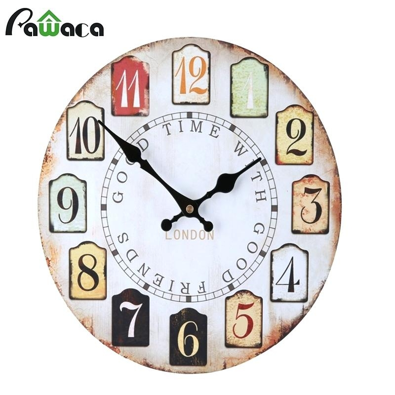 Wall Clock ~ Ceramiche Darte Parrini Italian Ceramic Wall Clock Pertaining To Italian Ceramic Wall Clock Decors (Image 21 of 22)
