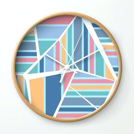 Wall Clock ~ Designer Black Abstract Wall Clock Abstract Metal With Regard To Abstract Wall Art With Clock (Image 17 of 20)