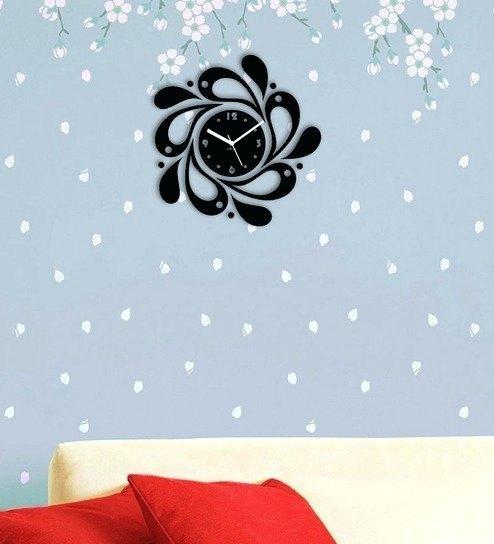 Wall Clock ~ Designer Black Abstract Wall Clock Abstract Metal With Regard To Abstract Wall Art With Clock (Image 16 of 20)