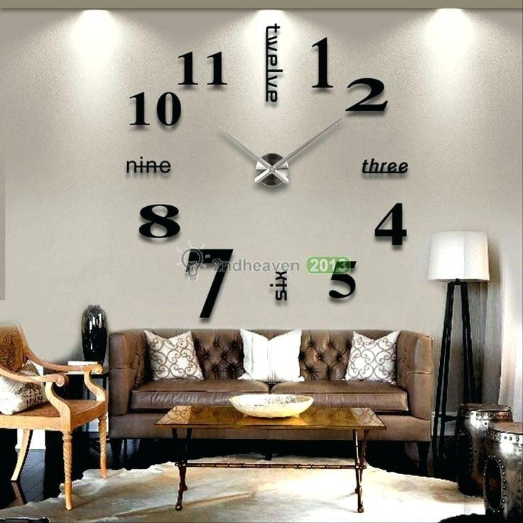 Wall Clock ~ Oversized Wall Clock Modern Modern Wall Hanging Within Modern Oversized Wall Art (Image 20 of 20)
