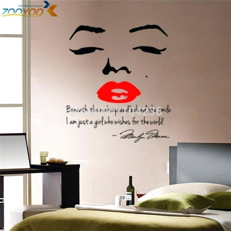 Wall Clock ~ Star Sexy Marilyn Monroe Wall Art Picture Print Pertaining To Marilyn Monroe Wall Art (Image 19 of 20)
