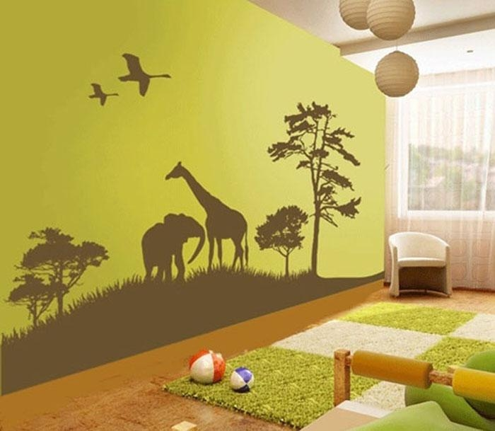 Wall Decal Decorating Ideas For Children's Rooms | My New Apartment Within Wall Art Stickers For Childrens Rooms (Image 20 of 20)
