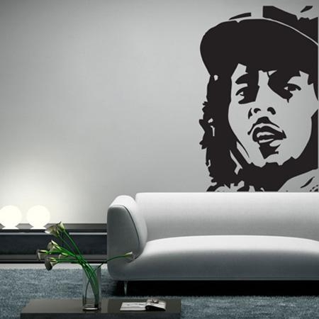 Wall Decal: Inspiratinal Bob Marley Wall Decals Bob Marley Intended For Bob Marley Wall Art (Image 20 of 20)