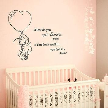 Wall Decal Vinyl Sticker Decals Art Decor From Creativewalldecals With Winnie The Pooh Wall Art For Nursery (Image 17 of 20)