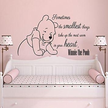 Wall Decals Quotes Vinyl Sticker Decal From Amazon | Kids Boys For Winnie The Pooh Nursery Quotes Wall Art (Image 17 of 20)