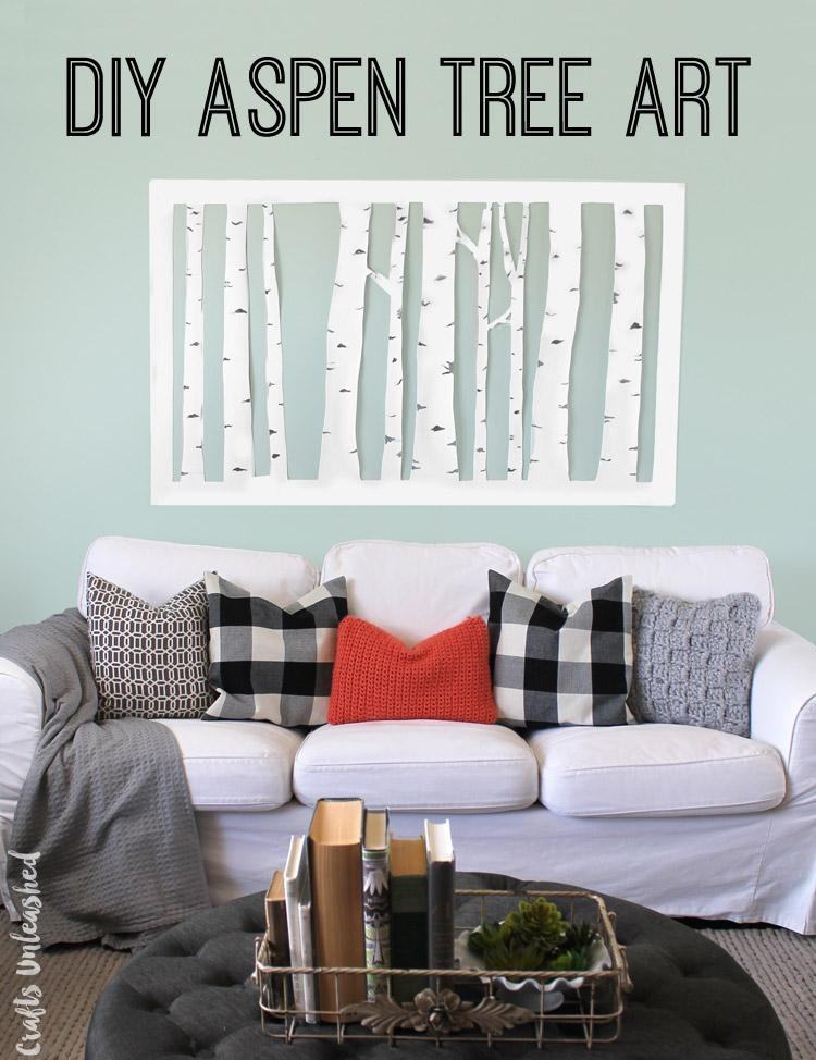 Wall Decor Diy: Aspen Tree Art – Consumer Crafts Within Aspen Tree Wall Art (Image 20 of 20)