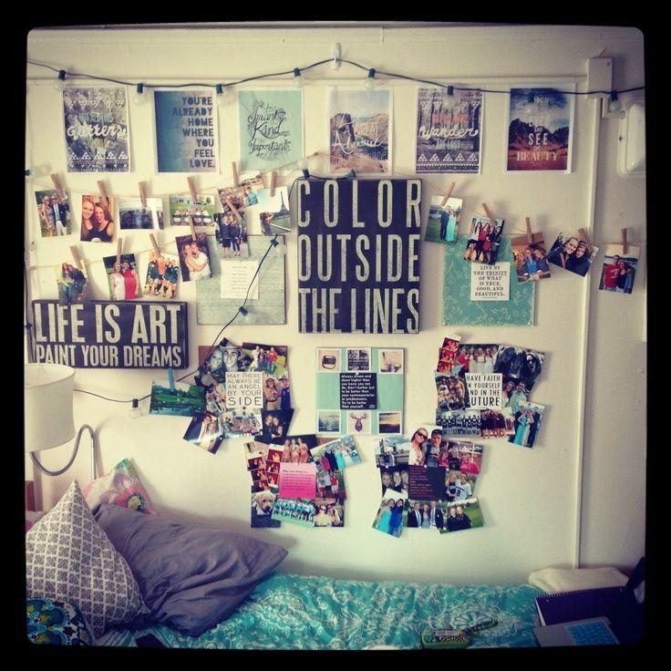 Wall Decor For Dorms : Dorm Wall Décor: Steps For Making Beautiful Intended For College Dorm Wall Art (Image 19 of 20)