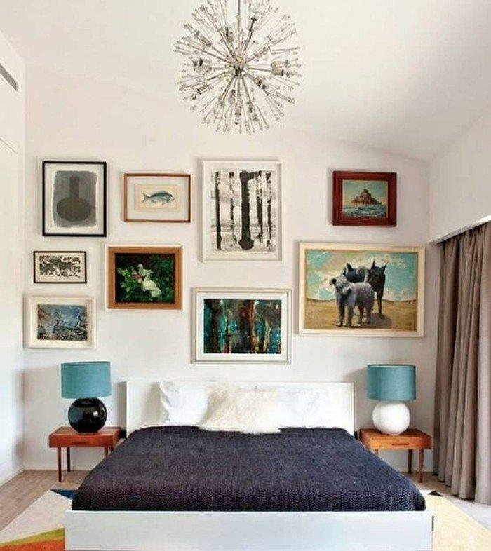 Wall Decor Ideas For Bedroom Bamboo Shelves And Mirror And Wall Within Bedroom Framed Wall Art (Image 20 of 20)