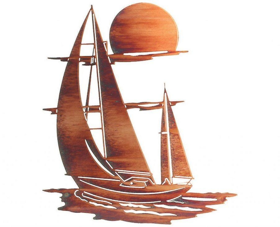 Wall Decor: Metal Sailboat Wall Art Design (Image 18 of 20)