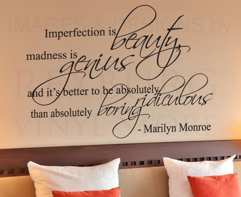 Wall Decor Quotesmarilyn Monroe – The Drawing Room Interiors In Marilyn Monroe Wall Art Quotes (Image 20 of 20)