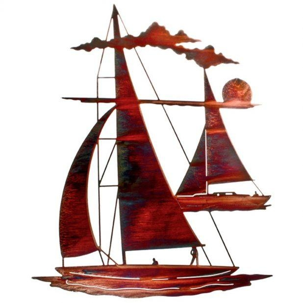 Wall Decor: Sailboat Wall Art Pictures. Yacht Metal Wall Art (Image 19 of 20)
